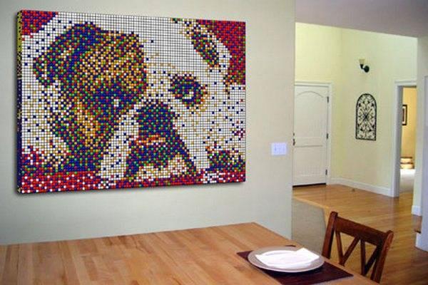 Obras de arte con cubos de Rubik (27)