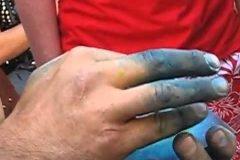Pintando con los dedos
