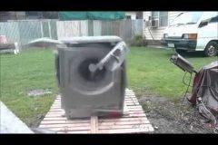 Cómo destruir una lavadora