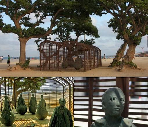 Espeluznantes esculturas en las playas (2)