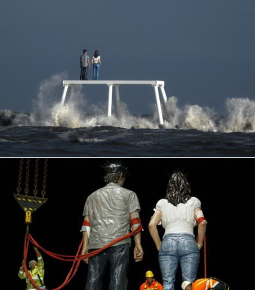 Espeluznantes esculturas en las playas (1)
