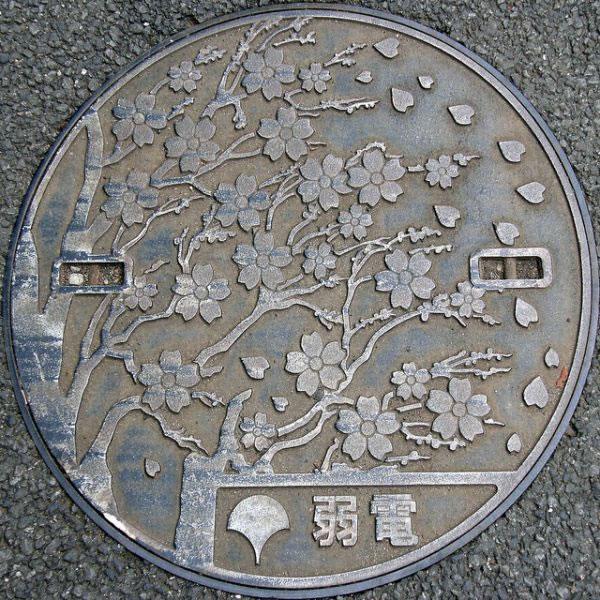 Tapas de alcantarillas en Japón (2)