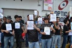 Agreden a manifestantes veracruzanos en mitin de Peña Nieto