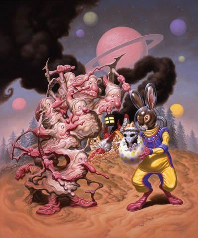 Todd Schorr paints (4)