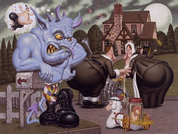 Todd Schorr paints (9)