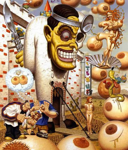 Todd Schorr paints (3)
