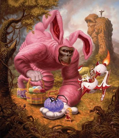 Todd Schorr paints (2)