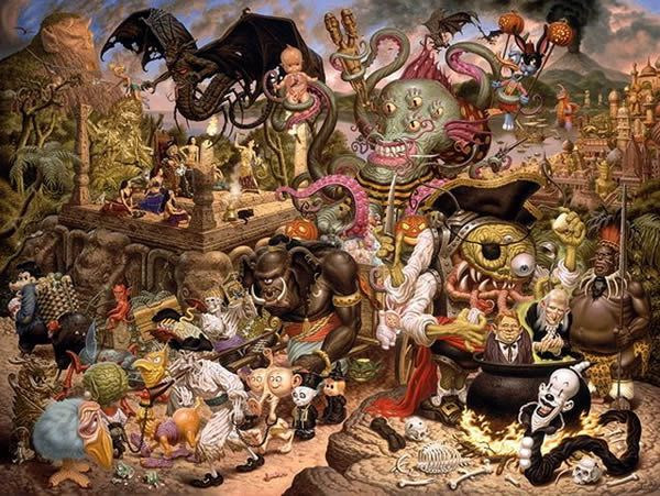 Todd Schorr paints (15)