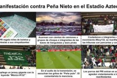 Porros de Enrique Peña Nieto en Estadio Azteca