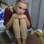 Los pies una bailarina profesional del Ballet