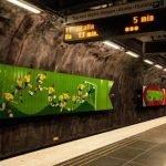Arte subterráneo en metro de Estocolmo