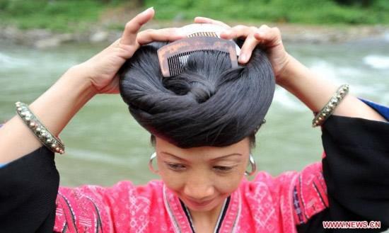 Huangluo pelo mujer