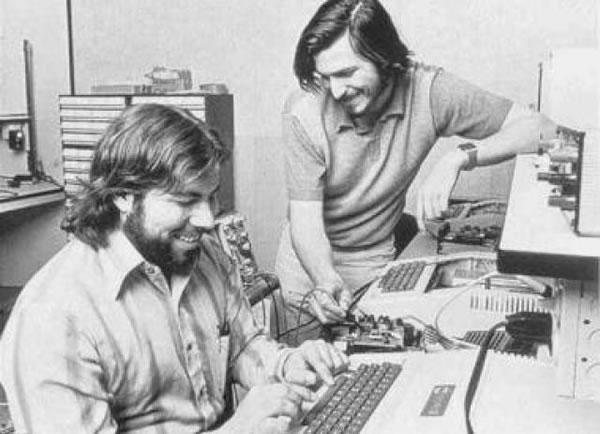 Steve Jobs y Wozniack