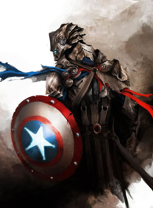 The Avengers Ilustracion Edad Media (3)