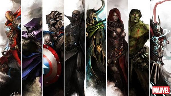 The Avengers Ilustracion Edad Media (5)