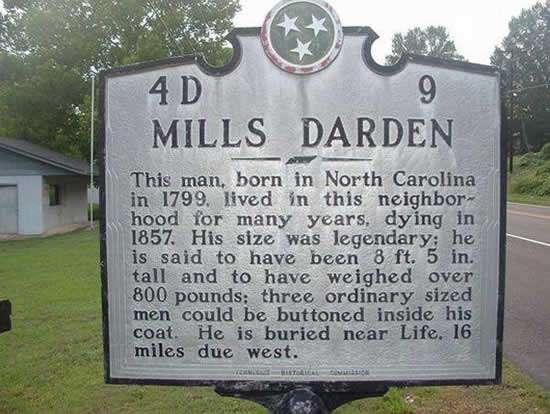 Mills Darden lamina conmemorativa