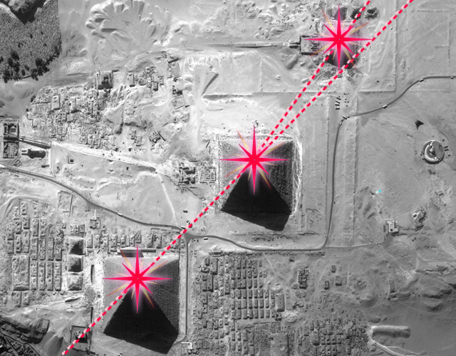 piramides gizeh orion
