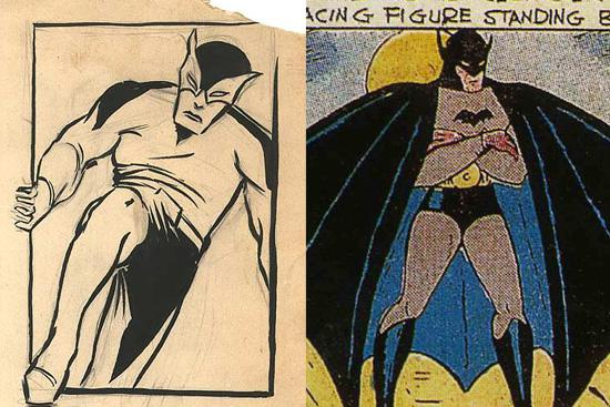 Batman original de frank-foster 1932 vs Batman 1939 Bob Kane