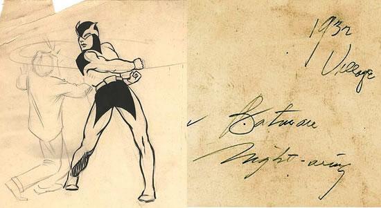 Diseño original de Batman Frank Foster 1932