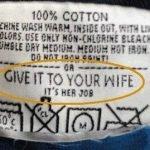 Etiquetas en los productos para gente estúpida