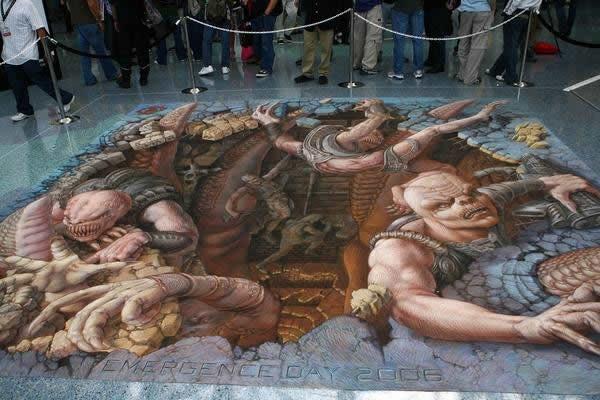 Kurt Wenner 3D arte pinturas pavimento (5)