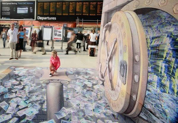 Kurt Wenner 3D arte pinturas pavimento (4)
