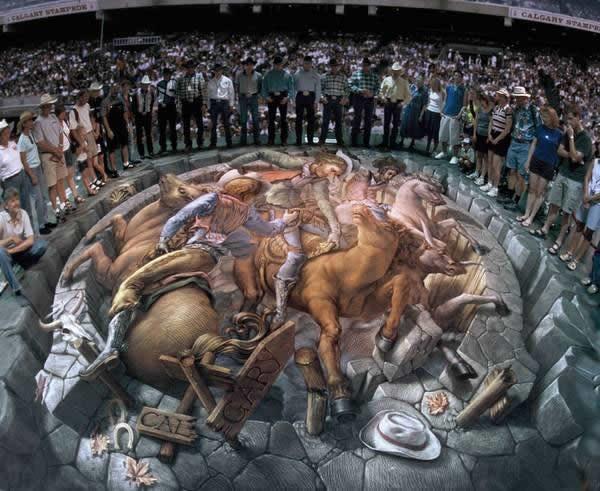 Kurt Wenner 3D arte pinturas pavimento (3)