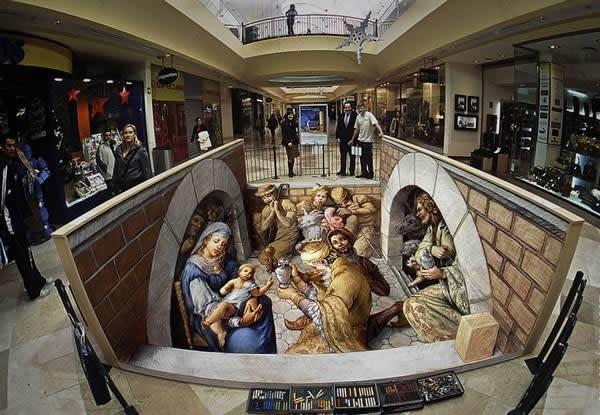 Kurt Wenner 3D arte pinturas pavimento (1)