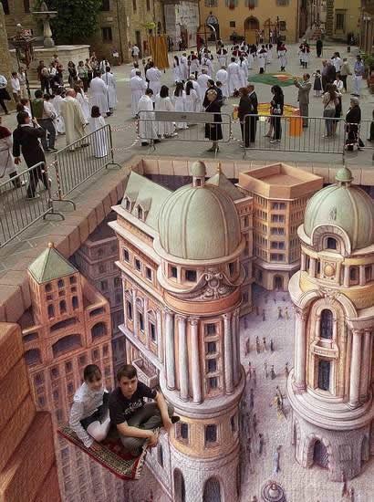 Kurt Wenner 3D arte pinturas pavimento (10)