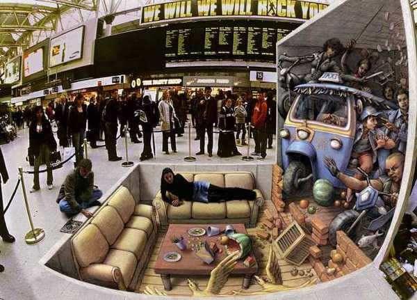 Kurt Wenner 3D arte pinturas pavimento (9)