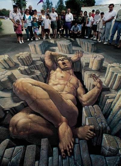 Kurt Wenner 3D arte pinturas pavimento (18)