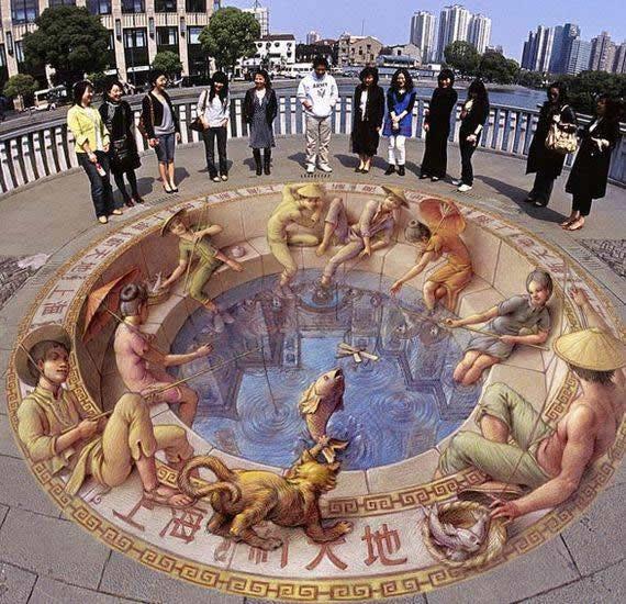 Kurt Wenner 3D arte pinturas pavimento (17)