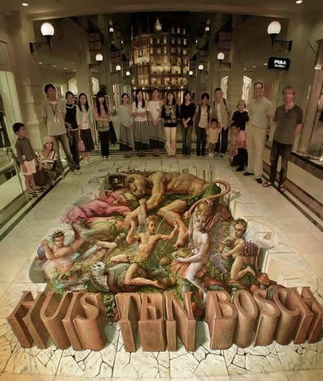 Kurt Wenner 3D arte pinturas pavimento (16)