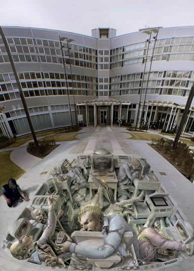 Kurt Wenner 3D arte pinturas pavimento (15)