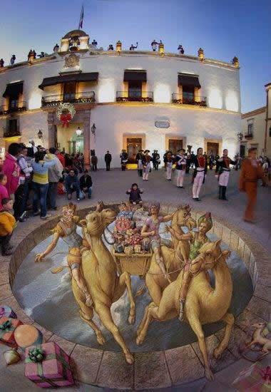 Kurt Wenner 3D arte pinturas pavimento (14)