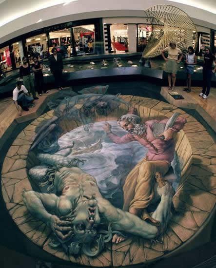 Kurt Wenner 3D arte pinturas pavimento (21)