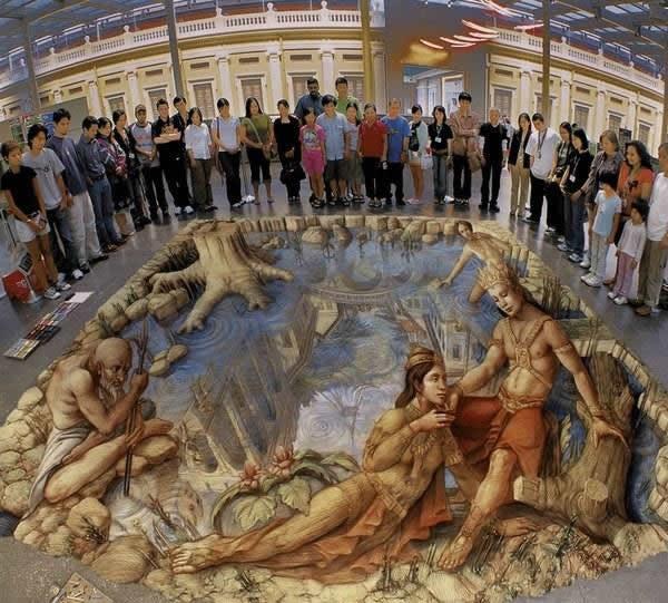 Kurt Wenner 3D arte pinturas pavimento (20)