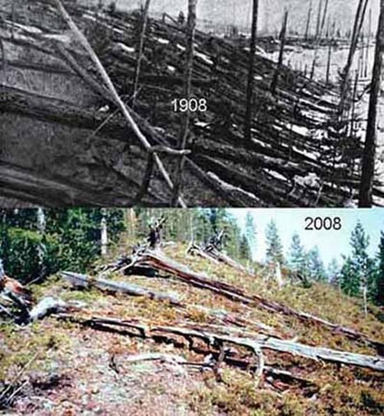 Explosión en tunguska Siberia