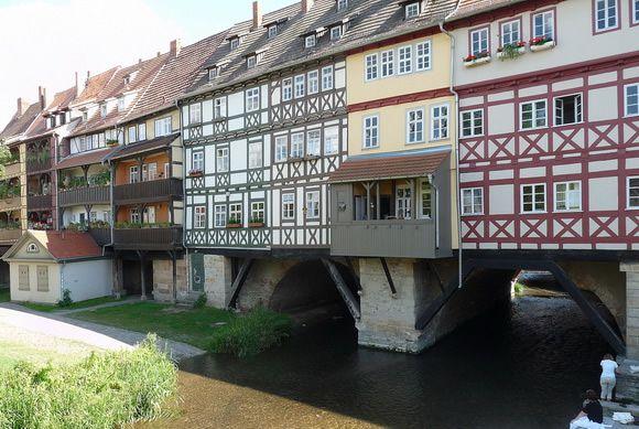 puente Krämerbrücke lateral