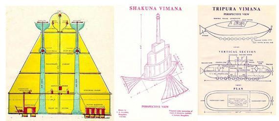 Gráfico de una nave vimana