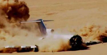 Boeing 727 accidente provocado