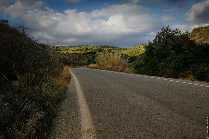 Carretera en grecia