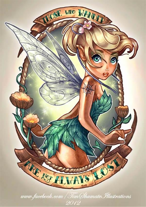 Princesas Disney con tatuajes por telegrafixs (4)
