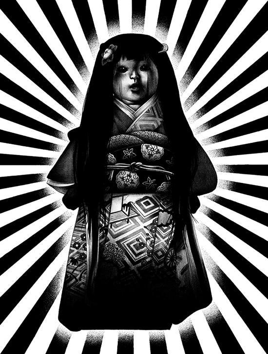 Muñeca poseída por el espíritu de una niña Okiku
