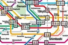 Mapa Metro Tokio