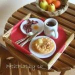 Comida en miniatura hecha a mano