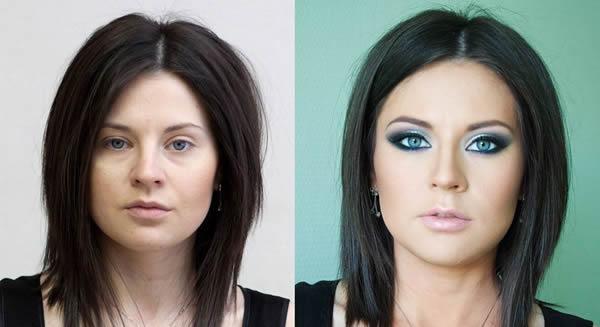 Maquiagem profissional antes e depois (1)