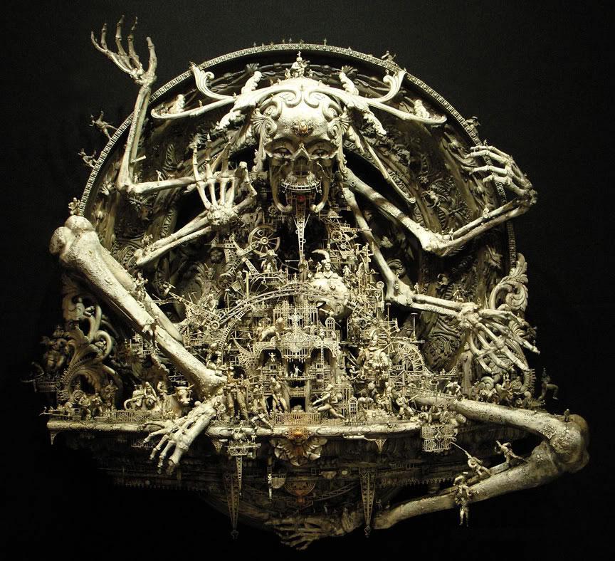 Esculturas Kris Kuksi (9)