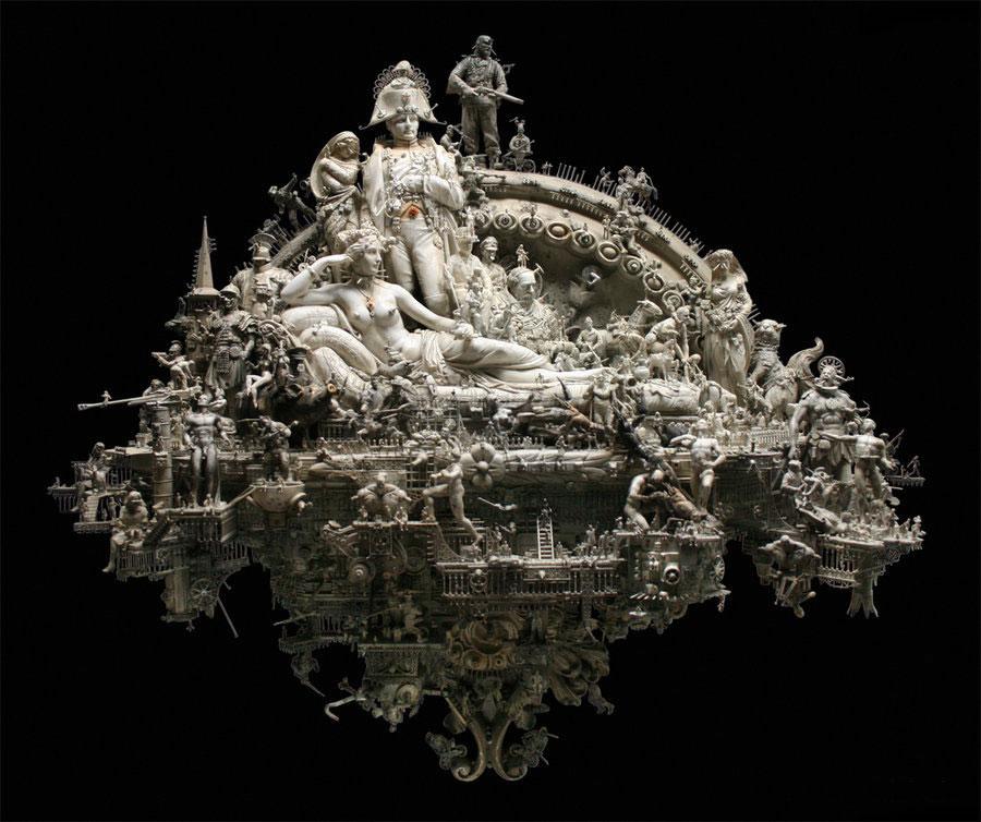Esculturas Kris Kuksi (7)