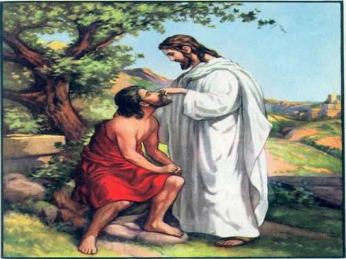 jesus escupiendo